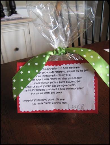 Inexpensive yet meaningful teacher gift beneath my heart