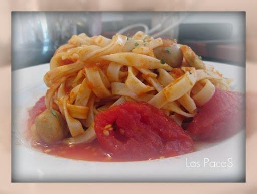 Espaguetti con ragú de champiñones_picnik