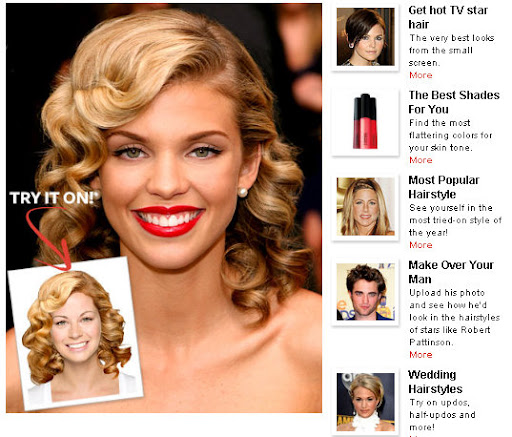 Online Hollywood Hair Virtual Makeover