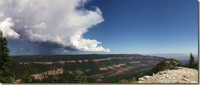 Storm over East Rim from Marble View Forest Road 219 Kaibab National Forest Arizona