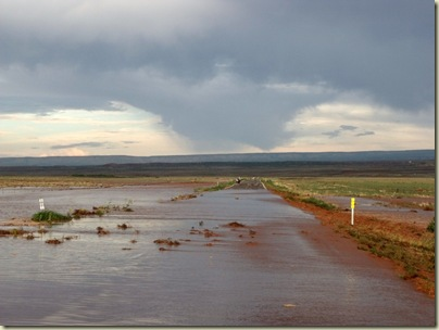 First flash flood over Hwy 89A south of Fredonia Arizona