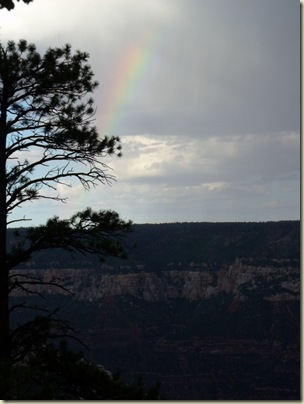 a1429 Rainbow over Roaring Springs canyon & Walhalla Plateau from Bridle trail NR GRCA NP AZ (768x1024)