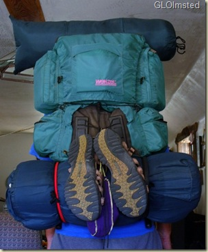 05 Mike's backpack loaded for canyon hike Yarnell AZ (657x800)
