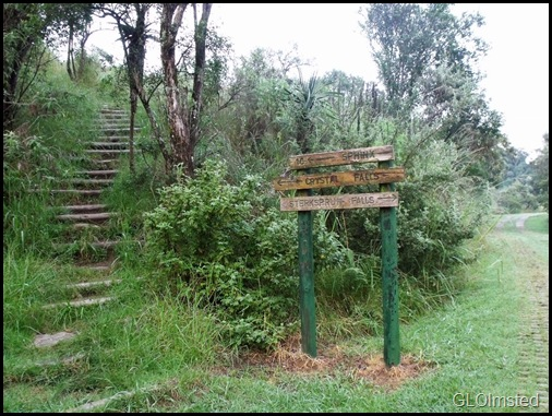 Trailhead from Monks Cowl camp Drakensburg KwaZulu-Natal South Africa