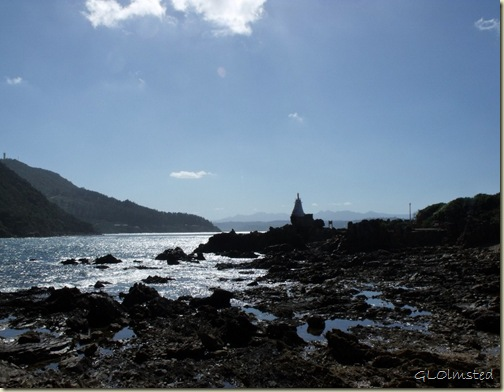 Lighthouse into Knysna Lagoon from Lower Eastern Head Western Cape South Africa