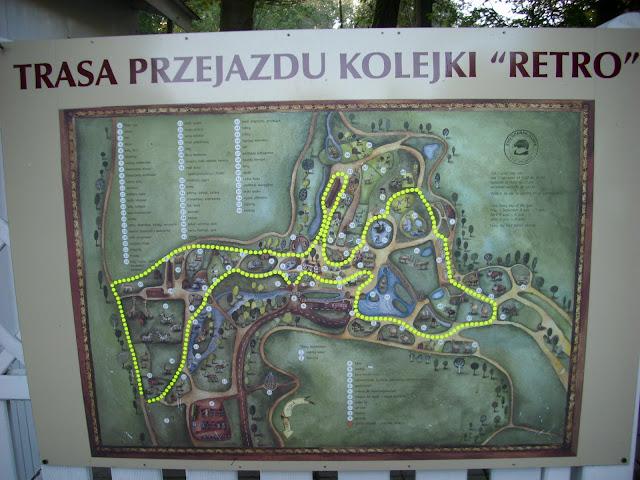 """Trasa przejazdu kolejki """"Retro"""""""