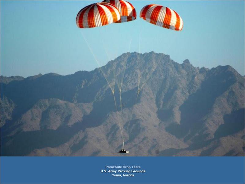 Prueba de los paracaídas