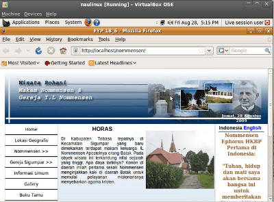 offline website di NaulinuX hasil karya mahasiswa