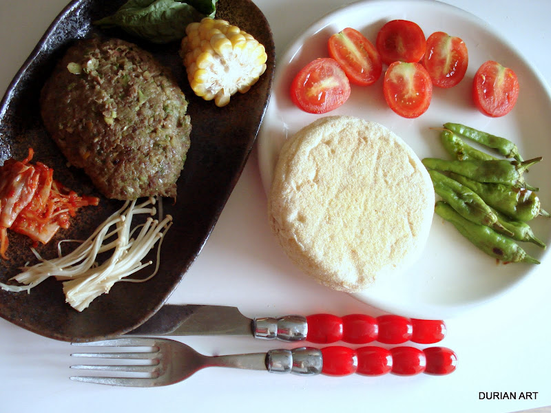 Hanbaagu - A burger with greens