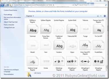 Easy Font Viewing in Windows 7 – Robyns World