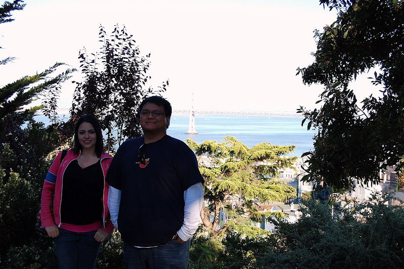 Scott and Frances enjoying the citys views.