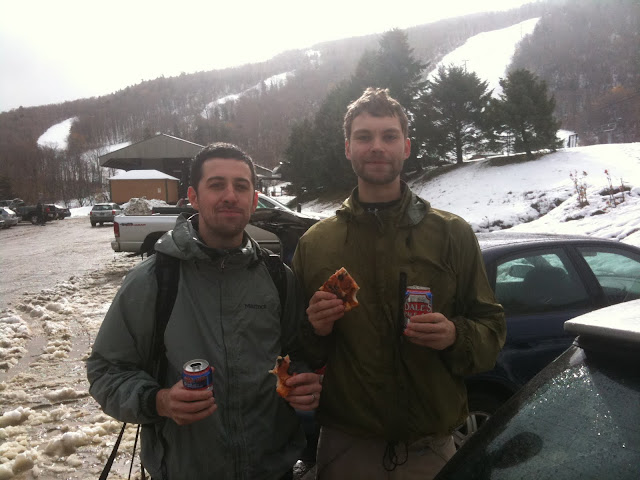 Skiing, Pizza, Beer.