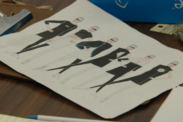 Ti Zhous fashion sketches