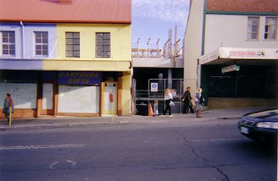138  and 140 (laneway) Elizabeth St. Hobart, in 2005. Former studios of Alfred Bock (1857-1865) and Thomas Nevin (1865-1876) Photo KLW NFC Collection 2005.