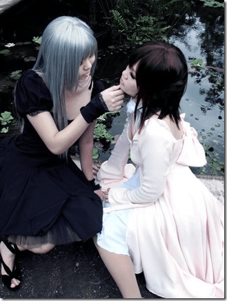 vampire knight cosplay - kurenai maria and yuki cross