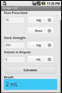 Dosage Calc screenshot 1