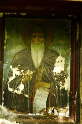 Orthodox art is very cool. High up in the hills.