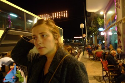 Steph. Waiting. Old guys on her right were reallllllllllyyyyyyy drunk. And leering, I suspected.