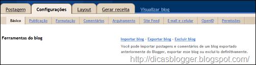 ferramentas do blogger