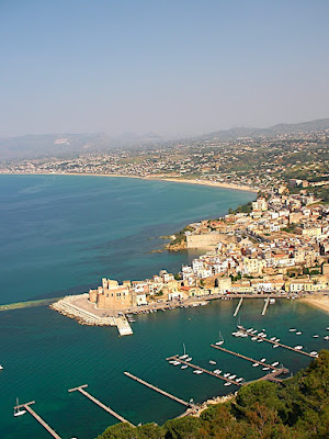 Castellammare del Golfo from above
