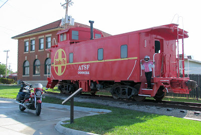Their Santa Fe caboose looks way better than ours