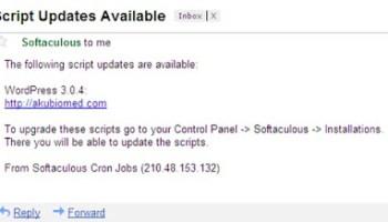 Menerima notis e-mail unutk naik taraf versi WordPress