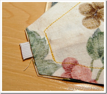 Backstitch over elastic