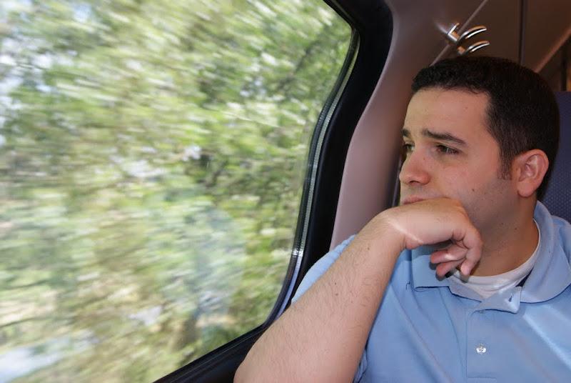 En el tren, desde el aeropuerto a Den Haag