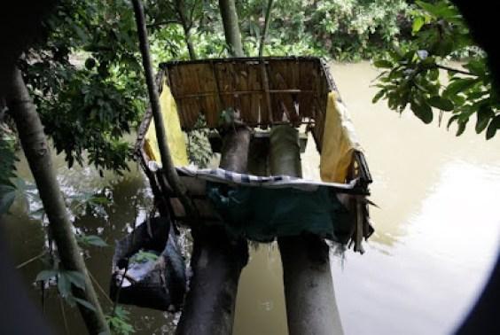 mekong delta toilet, outhouse toilet, tree outhouse toilet