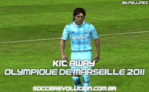 Download do Uniforme Away do Olympique de Marseille para FIFA 10