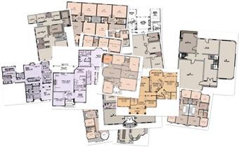 عرض نماذج من مخططات ومساقط أفقية للعمارة الخليجية