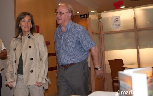 Felix Landa Otal junto a la hija de Marcial Salafranca