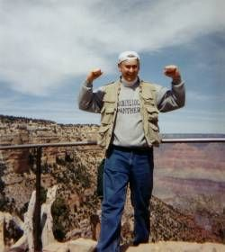 George Madzia at the Grand Canyon in Arizona in 2001