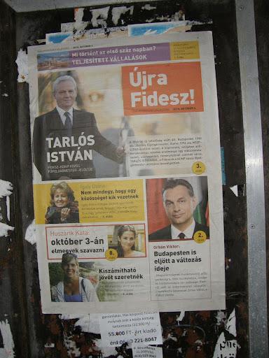 Rogán Antal,  belváros, City,  újság, plakát, kampány, City, V. kerület, Fidesz, 5. kerület, polgármester