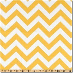 premier prints yellow chevron fabric