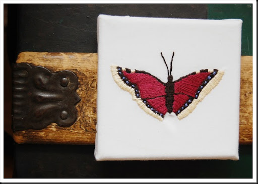 butterfly embroidery complete