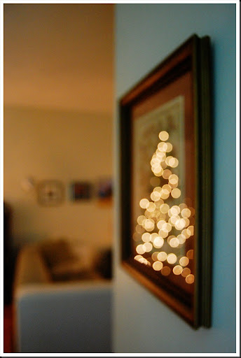 xmas lights frame