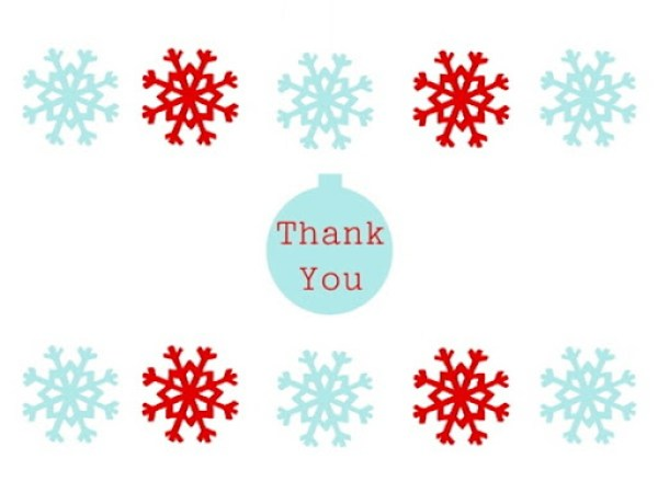 Christmas Thank You Cards Free Download