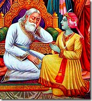 Dashratha grieving over Rama's departure