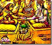 Sita and Rama wedding ceremony