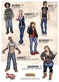Alien Ink Character Designs