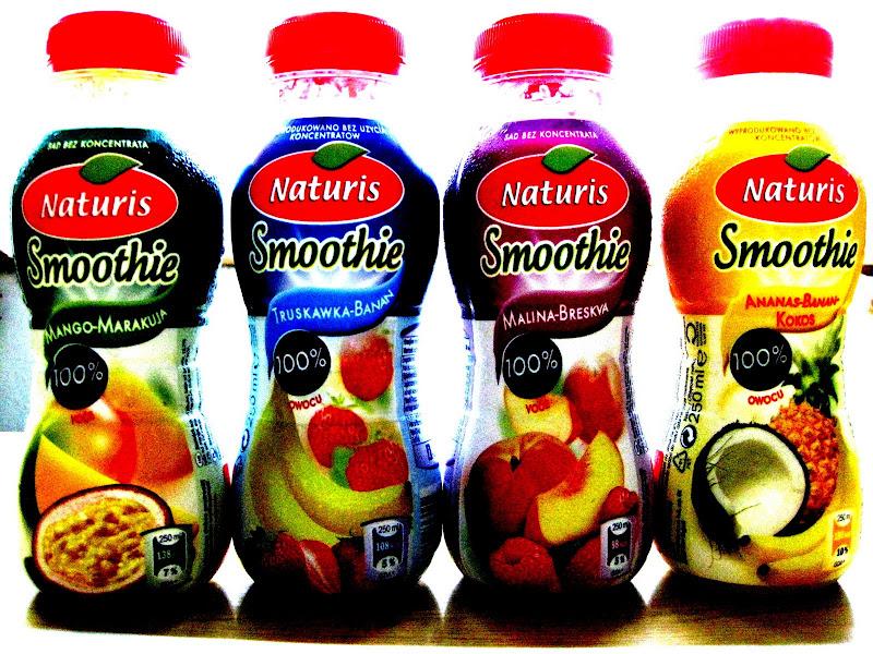 Cztery butelki smoothie z Lidla
