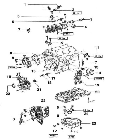 Lexus engine diagram :: Lexus RX300 engine diagram