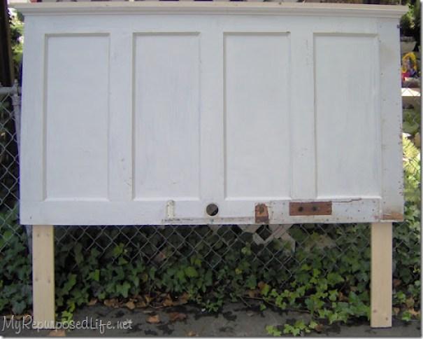 diy headboard from door