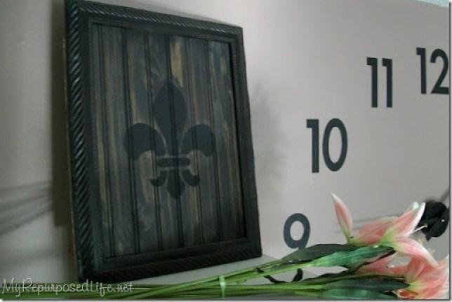 diy stencil fleur de lis frame