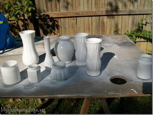 old glassware spray paint