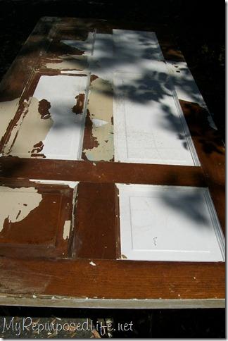 chippy old repurposed door