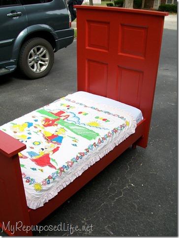 red door toddler  bed