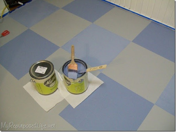 Purdy painted my vinyl floor