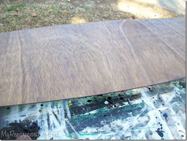 staining new table top for mcm coffee table base